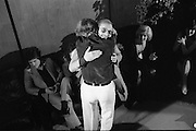 1980-03-09.9th March 1980.09-09-1980.03-09-80..Photographed at RTE Montrose, Dublin..Shay Healey, who wrote the winning song What's Another Year, is congratulated at the 16th National Song Competition....