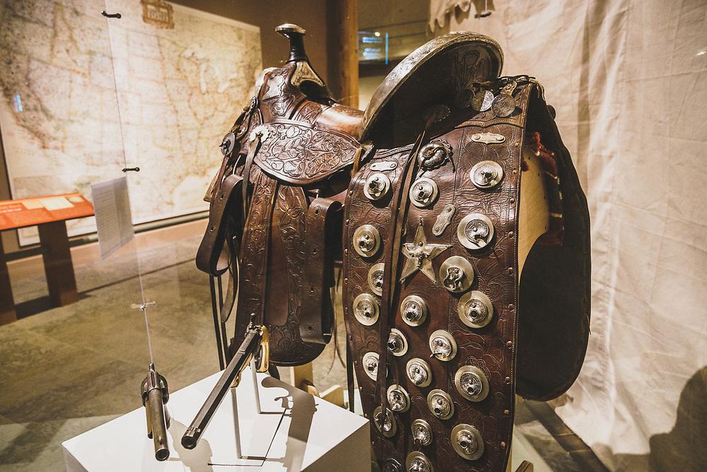A-Frame Western Saddle, Buffalo Bill Museum, Buffalo Bill Center of the West, Cody, Wyoming.