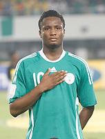 Photo: Steve Bond/Richard Lane Photography.<br /> Nigeria v Mali. Africa Cup of Nations. 25/01/2008. John obi Mikel of Chelsea and Nigeria