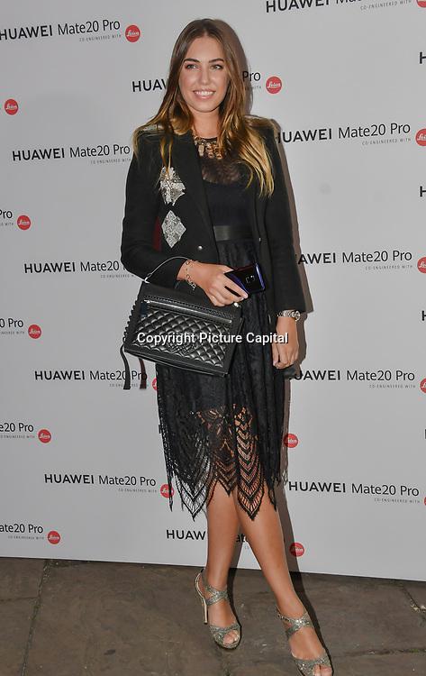 Amber Le Bon attend Huawei - VIP celebration at One Marylebone London, UK. 16 October 2018.