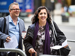 © Licensed to London News Pictures. 04/09/2018. London, UK. DARREN WILLIAMS (left) and YASMINE DAR (right) arrive at Labour Party headquarters in London to attend a National Executive Committee meeting. The Labour Party's ruling body is expected to vote on whether to adopt, in full, the IHRA (International Holocaust Remembrance Alliance) definition of anti-Semitism. Photo credit: Ben Cawthra/LNP