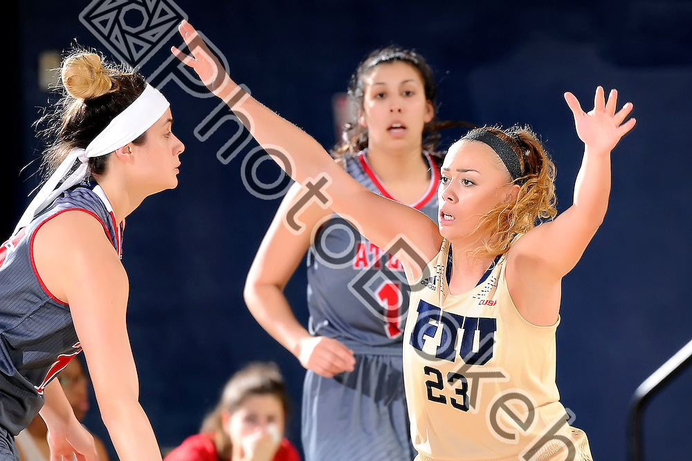 2016 February 27 - FIU's Nikolina Todorovic (23). Florida International University fell to Florida Atlantic University, 52-63, at Lime Court, in the FIU Arena, Miami, Florida. (Photo by: Alex J. Hernandez / photobokeh.com) This image is copyright by PhotoBokeh.com and may not be reproduced or retransmitted without express written consent of PhotoBokeh.com. ©2016 PhotoBokeh.com - All Rights Reserved