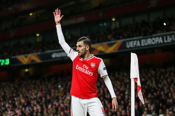 Dani Ceballos of Arsenal prepares to take a corner - Mandatory by-line: Arron Gent/JMP - 27/02/2020 - FOOTBALL - Emirates Stadium - London, England - Arsenal v Olympiacos - UEFA Europa League Round of 32 second leg
