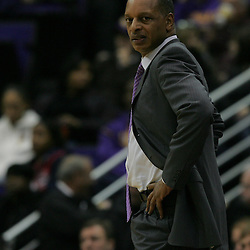 Jan 04, 2010; Baton Rouge, LA, USA; LSU Tigers head coach Trent Johnson watches his team during a game against the McNeese State Cowboys at the Pete Maravich Assembly Center. LSU defeated McNeese State 83-60.  Mandatory Credit: Derick E. Hingle-US PRESSWIRE