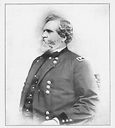Major-General George Henry Thomas Virginia-born soldier loyal to the L nion; commended for gallantry in the Seminole War, and for service in Mexico; won the battle of Mill Spring, January 19, 1862; from the book ' The Civil war through the camera ' hundreds of vivid photographs actually taken in Civil war times, sixteen reproductions in color of famous war paintings. The new text history by Henry W. Elson. A. complete illustrated history of the Civil war