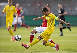 Yevgen Cheberko (Ukraine) under U21 EM2021 Kvalifikationskampen mellem Danmark og Ukraine den 4. september 2020 på Aalborg Stadion (Foto: Claus Birch).