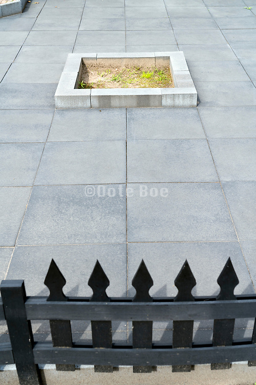 tiled garden in front of the house Netherlands