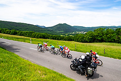 Peloton and Sveta Gora - Holly mountain during the 4th Stage of 27th Tour of Slovenia 2021 cycling race between Ajdovscina and Nova Gorica (164,1 km), on June 12, 2021 in Slovenia. Photo by Matic Klansek Velej / Sportida