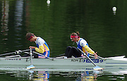 Lucerne, SWITZERLAND,  Women's Lightweight Double Sculls. final. Gold. ROM LW2X Bow. Constanta BURCICA and  Angela ALUPEI - TAMAS. 2000 FISA World Cup, Rotsee Rowing Course, June 2000.  [Mandatory Credit, Peter Spurrier/Intersport-images]. 2000 FISA World Cup, Lucerne, SWITZERLAND