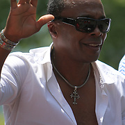 Boxer Sugar Ray Leonard seen in the parade during the 23rd Annual International Boxing Hall of Fame Induction ceremony at the International Boxing Hall of Fame on Sunday, June 10, 2012 in Canastota, NY. (AP Photo/Alex Menendez)