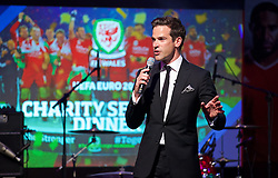 CARDIFF, WALES - Wednesday, June 1, 2016: Television presenter Gethin Jones hosts a charity send-off gala dinner at the Vale Resort Hotel ahead of the UEFA Euro 2016. (Pic by David Rawcliffe/Propaganda)