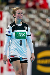 11-12-2019 JAP: Norway - Germany, Kumamoto<br /> Last match Main Round Group1 at 24th IHF Women's Handball World Championship, Norway win the last match against Germany with 32 - 29. / Amelie Berger #3 of Germany