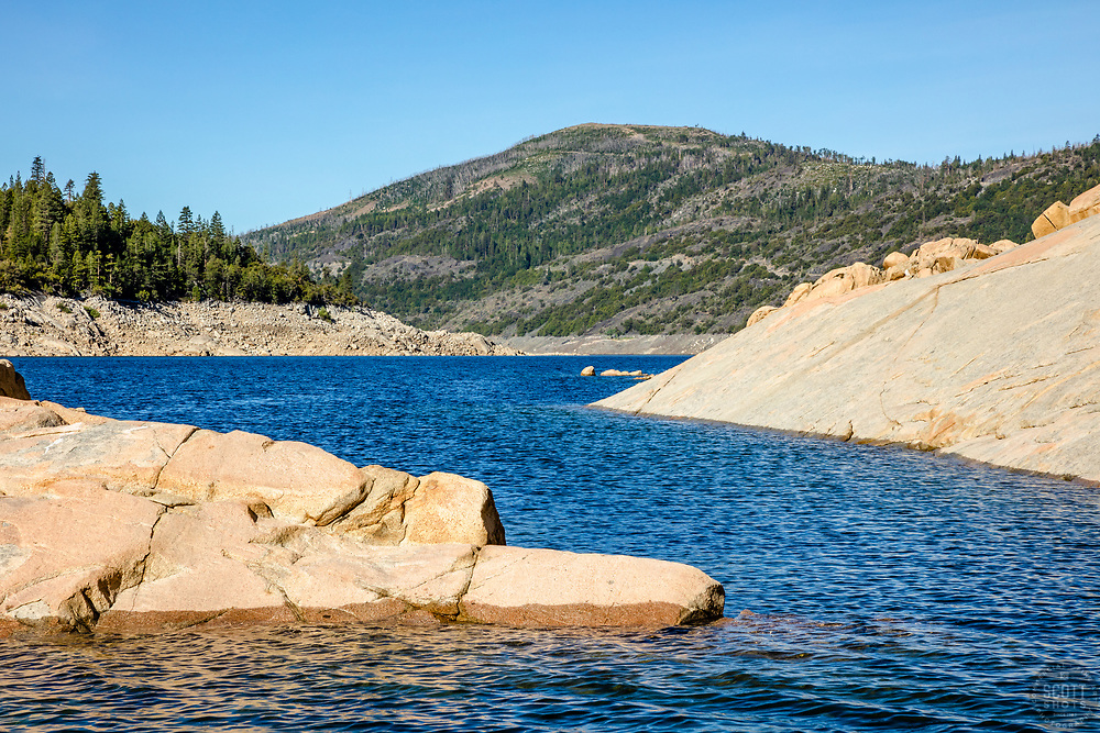 """""""Hell Hole Reservoir 1"""" - Daytime photograph of boulders at Hell Hole Reservoir, California."""
