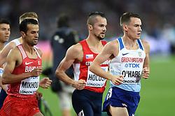 Chris O'Hare of Great Britain in action - Mandatory byline: Patrick Khachfe/JMP - 07966 386802 - 13/08/2017 - ATHLETICS - London Stadium - London, England - Men's 1500m Final - IAAF World Championships