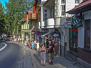 Szklarska Poręba (woj. dolnośląskie), 24.07.2013. Centrum miasta.
