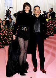 Charlotte Gainsbourg and Rami Malek attending the Metropolitan Museum of Art Costume Institute Benefit Gala 2019 in New York, USA.