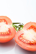 cut tomato on white Background