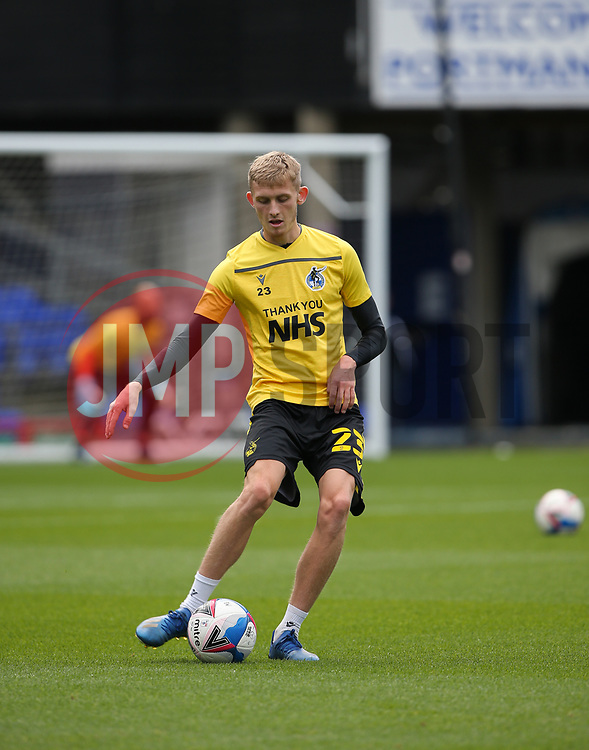Tom Mehew of Bristol Rovers during the warm up - Mandatory by-line: Arron Gent/JMP - 05/09/2020 - FOOTBALL - Portman Road - Ipswich, England - Ipswich Town v Bristol Rovers - Carabao Cup