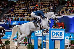 MUFF Werner (SUI), Jazoe van 'T Steenpaal<br /> München - Munich Indoors 2019<br /> CSI4* - Großer Preis der Deutschen Kreditbank AG (Große Tour)<br /> Springprüfung mit Stechen, international<br /> Höhe: 1.55m<br /> 24. November 2019<br /> © www.sportfotos-lafrentz.de/Stefan Lafrentz