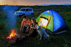 Acampamento a campo aberto em lugar deserto. FOTO: Jefferson Bernardes/Preview.com