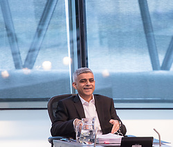 City Hall, London, March 22nd 2017. Mayor of <br /> London Sadiq Khan answers questions from London Assembly members during Mayor's Question Time which is held 10 times a year.