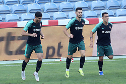 September 6, 2018 - Na - Loulé, 05/09/2018 - National Team AA: Preparation for the League of Nations: Adaptive training for the preparation match with Croatia at the Estádio Algarve. Gonçalo Guedes; Pizzi; João Cancelo; (Credit Image: © Atlantico Press via ZUMA Wire)