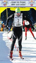 23.01.2011, Loipe Obertilliach, Obertilliach, AUT, 37. Dolomitenlauf, im Bild der Drittplazierte Teemu Kattilakoski (FIN)// EXPA Pictures © 2011, PhotoCredit: EXPA/ M. Gruber