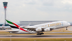 © under license to London News Pictures.FILE PHOTO Emirates Airbus A380 Aircraft at London Heathrow<br /> <br /> Photo credit should read IAN SCHOFIELD/LNP