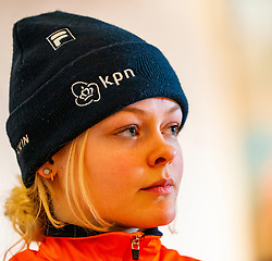 Xandra Velzeboer during the press conference for ISU World Cup Finals Shorttrack 2020 on February 12, 2020 in Museum Dordrecht.