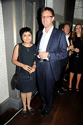 SHAMI CHAKRABARTI and her husband MARTYN HOPPER at the Harper's Bazaar Women of the Year Awards 2008 at The Landau, The Langham Hotel, Portland Place, London on 1st September 2008.<br /> <br /> NON EXCLUSIVE - WORLD RIGHTS