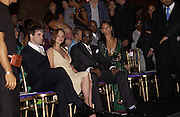 Christina Ricci, Sean P Diddy.  Atelier Versace show, Theatre National de Chaillot. Paris. © Copyright Photograph by Dafydd Jones 66 Stockwell Park Rd. London SW9 0DA Tel 020 7733 0108 www.dafjones.com