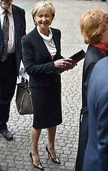 Sue Lawley arrives for the Service of Thanksgiving for Sir Terry Wogan at Westminster Abbey, London.