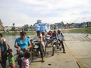 Ferry across Río de la Pasión in Sayaxché, El Petén, Guatemala