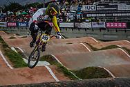 #593 (CAMPO Alfredo) ECU at the 2016 UCI BMX World Championships in Medellin, Colombia.