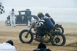 Grant Peterson comes off the line at TROG West - The Race of Gentlemen. Pismo Beach, CA, USA. Saturday October 15, 2016. Photography ©2016 Michael Lichter.