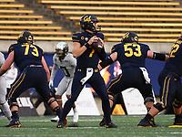 Dec 5, 2020; Berkeley, California, USA; California Golden Bears quarterback Chase Garbers (7) prepares to throw the ball against the Oregon Ducks during the first quarter at California Memorial Stadium. Mandatory Credit: Kelley L Cox-USA TODAY Sports