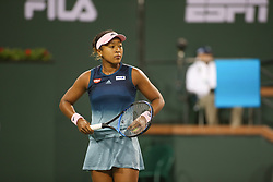 March 9, 2019 - Indian Wells, CA, U.S. - INDIAN WELLS, CA - MARCH 09: Naomi Osaka (JPN) prepares to serve during the BNP Paribas Open on March 9, 2019 at Indian Wells Tennis Garden in Indian Wells, CA. (Photo by George Walker/Icon Sportswire) (Credit Image: © George Walker/Icon SMI via ZUMA Press)