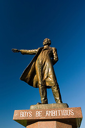 Famous statue of William Clark with message Boys Be Ambitious in Sapporo Japan