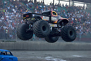 MONSTER TRUCK_Black Smith in action during the Monster Truck Challenge at the Orange County (NY) Fair Speedway July 29, 2004.