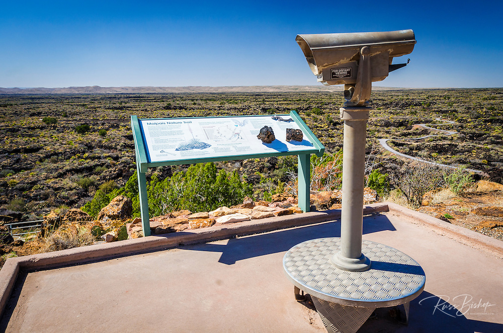 Viewpoint on the Malpais Nature Trail, Valley of Fires Natural Recreation Area, Carrizozo, New Mexico USA