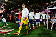 The England player make their way out of the tunnel before kick off for the National Anthems during the U21 International match between England and Germany at the Vitality Stadium, Bournemouth, England on 26 March 2019.