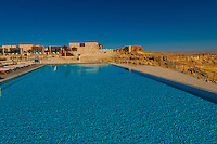 Swimming pool, Beresheet Hotel, Mitzpe Ramon, Negev Desert, Israel.