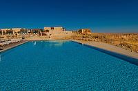 Swimming pool, Beresheet Hotel, Mitzpe Ramon, Negev Desert, Israel.