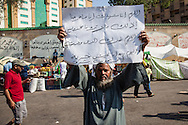 A sign supporting the Muslim Brotherhood leader Mohammed Morsi, in Nassr City, Cairo.