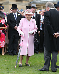 Queen Elizabeth II during a Royal Garden Party at Buckingham Palace in London.