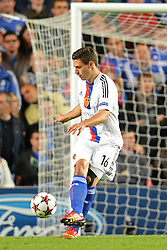 LONDON, ENGLAND - September 18: Basel's Fabian Schar  during the UEFA Champions League Group E match between Chelsea from England and Basel from Switzerland played at Stamford Bridge, on September 18, 2013 in London, England. (Photo by Mitchell Gunn/ESPA)