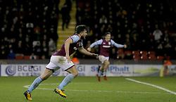 Aston Villa's Robert Snodgrass (left) celebrates after scoring