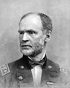 William Tecumseh Sherman (1820-1891) American soldier. In American Civil War 1861-65, one of the Unionist (northern) generals. Engraving