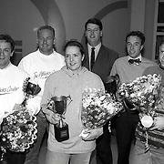 NLD/Huizen/1992010 - Uitreiking Huizer Sportprijzen 1991, oa Tom Coronel