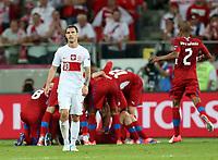 Fotball<br /> 16.06.2012<br /> EM 2012<br /> Polen v Tsjekkia<br /> Foto: Gepa/Digitalsport<br /> NORWAY ONLY<br /> <br /> UEFA Europameisterschaft 2012 in Polen und der Ukraine, Laenderspiel, Gruppenphase, Tschechien vs Polen. <br /> <br /> Bild zeigt die Enttaeuschung von Ludovic Obraniak (POL) und den Jubel von CZE.
